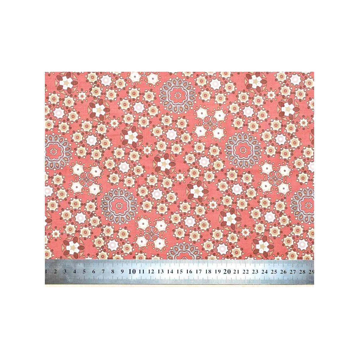 Tissu coton au mètre rouge incarnat