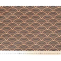Tissu coton Nami bronze
