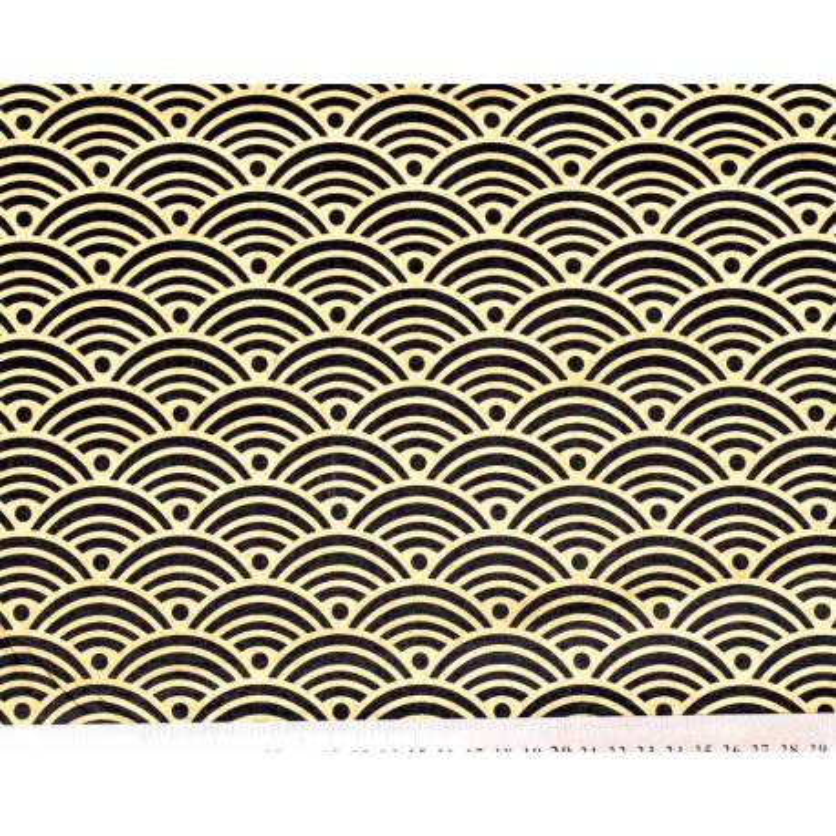 Tissu coton Nami or et noir