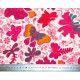 Tissu coton papillons roses