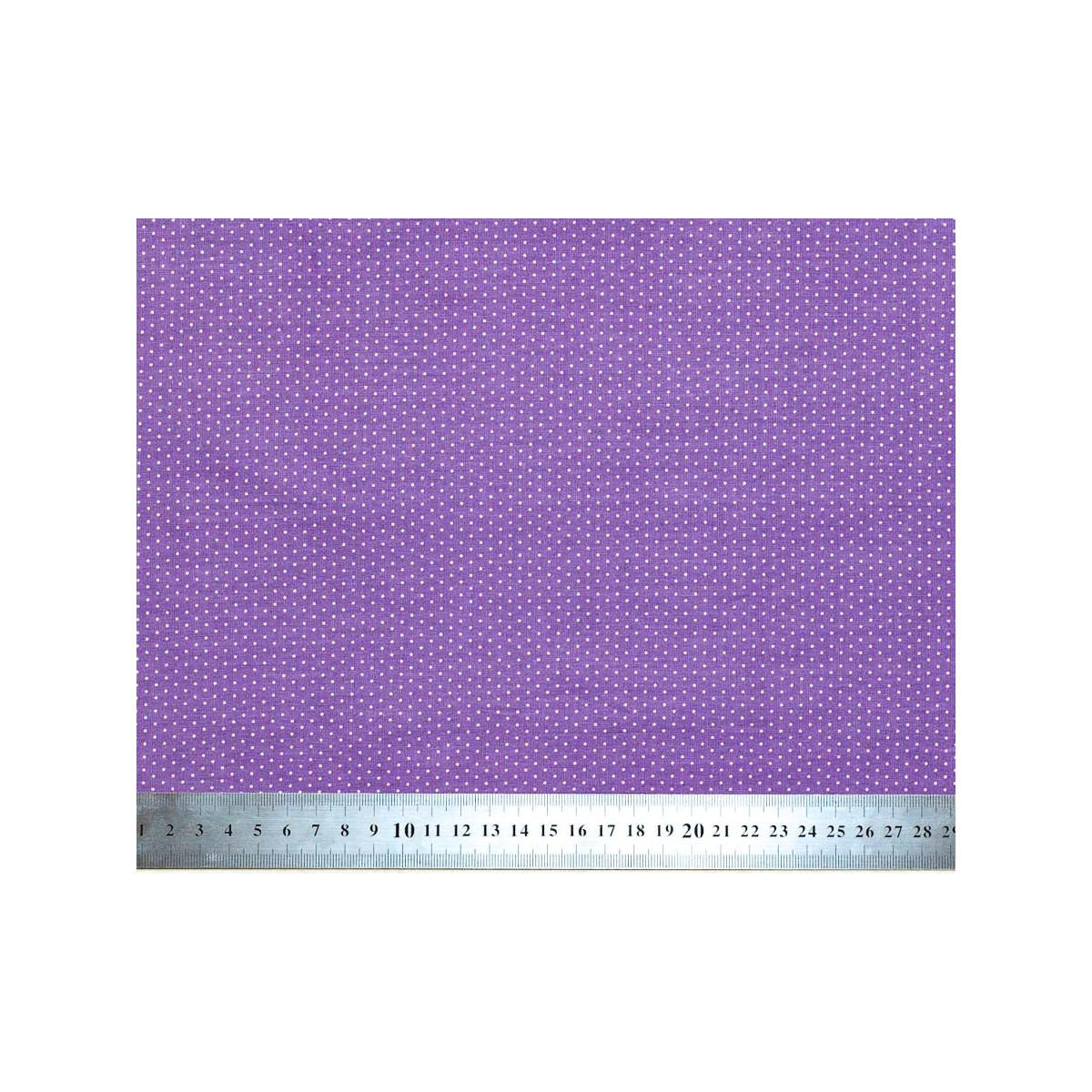 Tissu coton petits pois violet