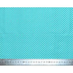 Tissu coton Petits Pois Turquoise