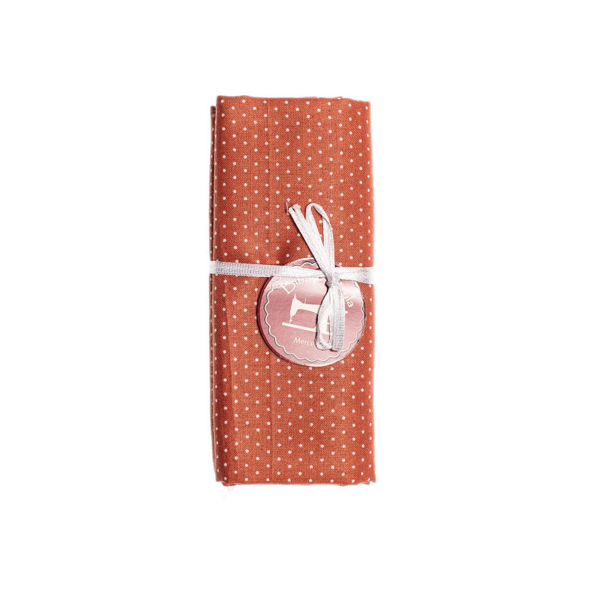 Coupon tissu Petits Pois Orange