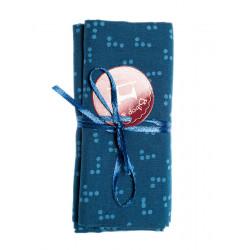Coupon tissu bleu Pixel