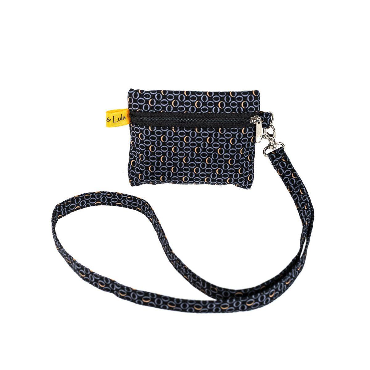 Porte badge tour de cou noir