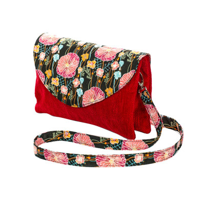 Sac double zip velours Poppies
