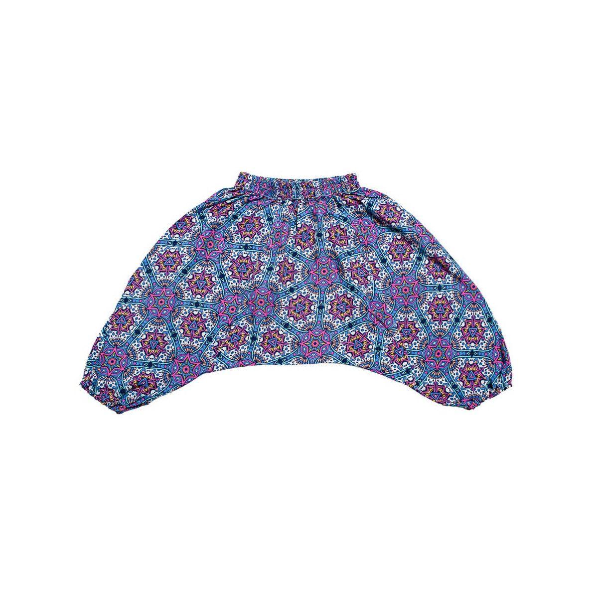 Pantalon sarouel léger 0-3 ans bleu violet
