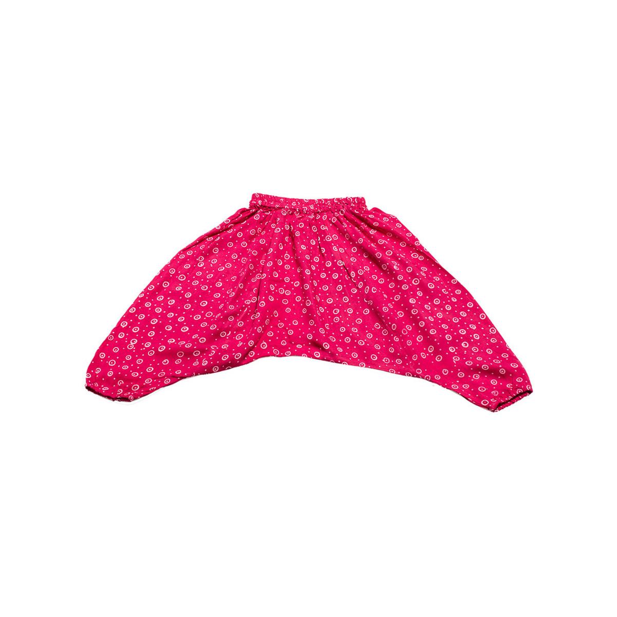 Pantalon sarouel léger 0-3 ans rose fuschia