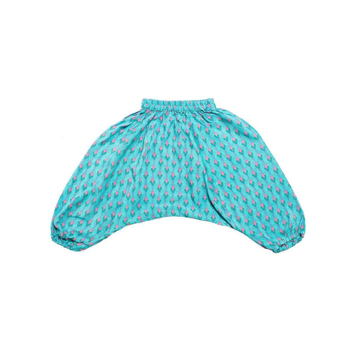 Pantalon sarouel léger 0-3 ans rose et bleu