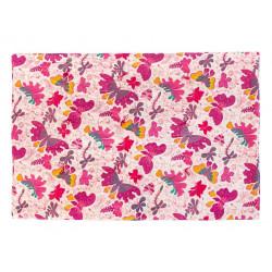 Plaid couverture coton gauffré papillons roses