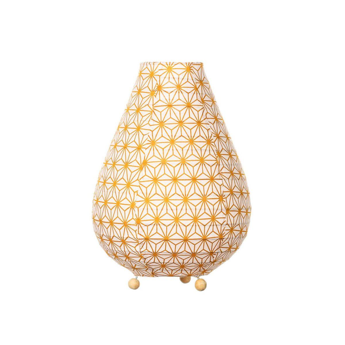 Lampe De Chevet Tissu Asanoha Bronze