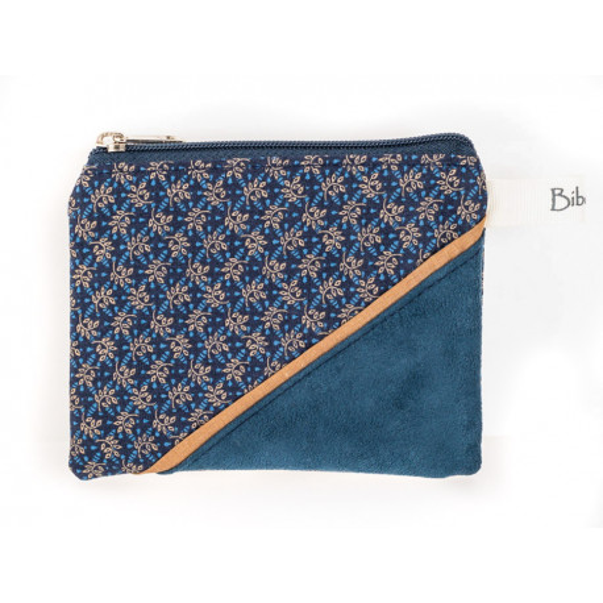 Petit porte-monnaie zippé bleu