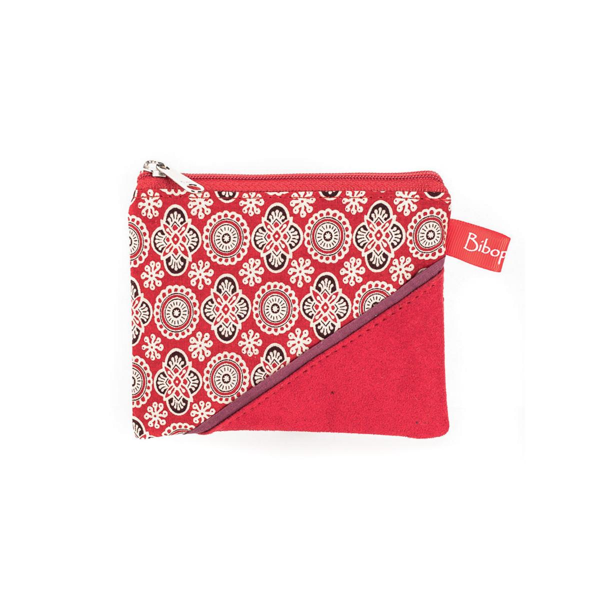 Petit porte-monnaie zippé rouge
