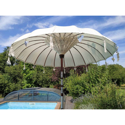 Parasol balinais écru coton diamètre 190cm