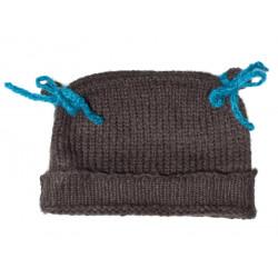 Bonnet bébé laine Ardoise