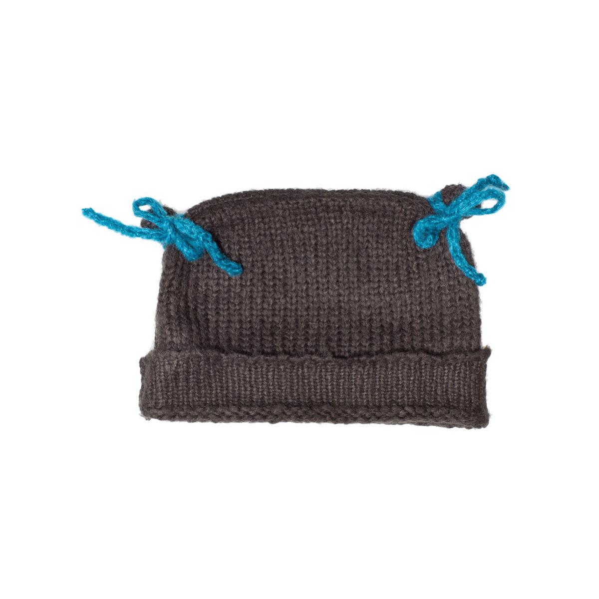 Bonnet bébé laine gris Ardoise