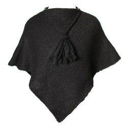 Poncho laine bébé Ardoise