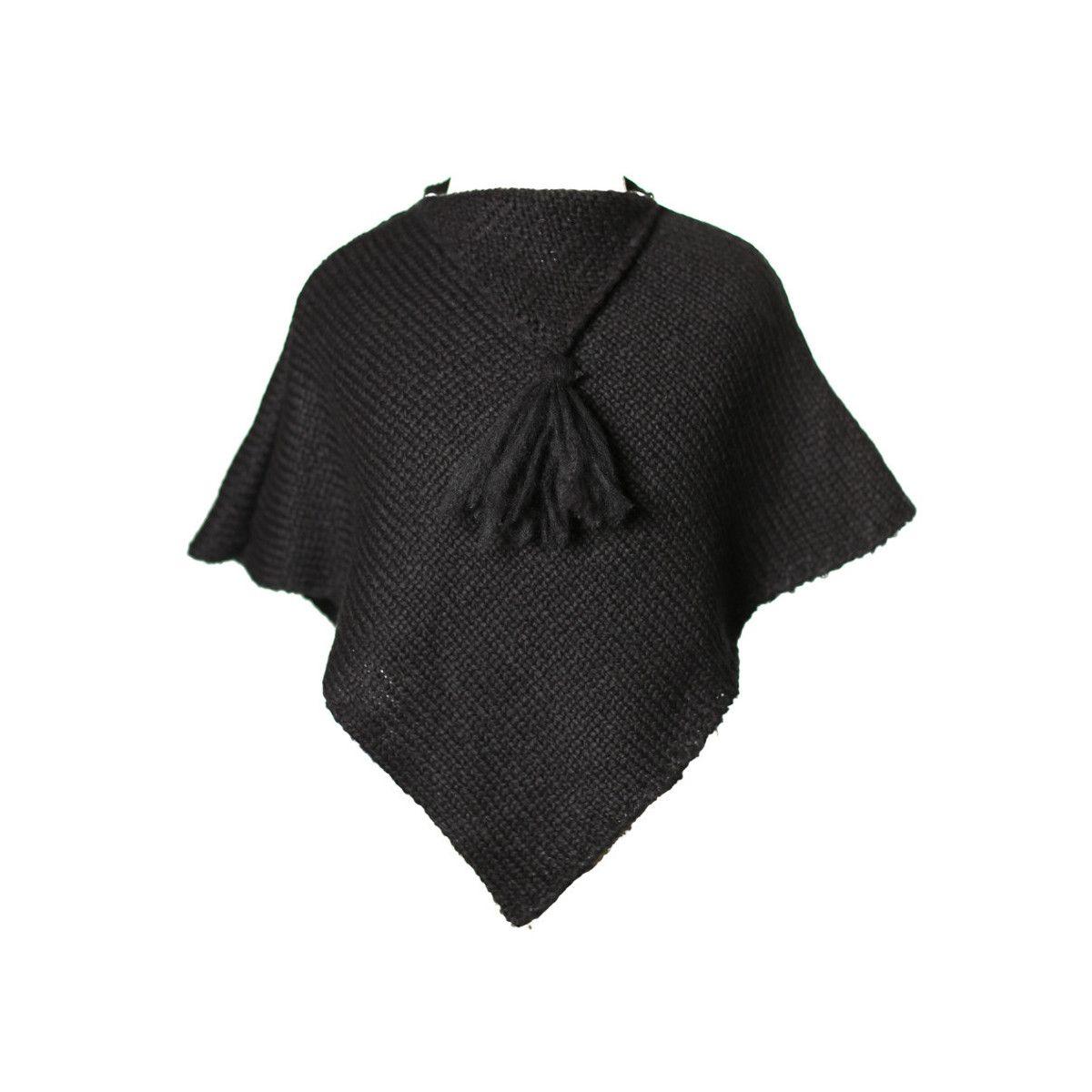 Poncho laine bébé gris Ardoise