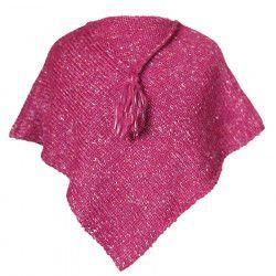 Poncho laine bébé Framboise
