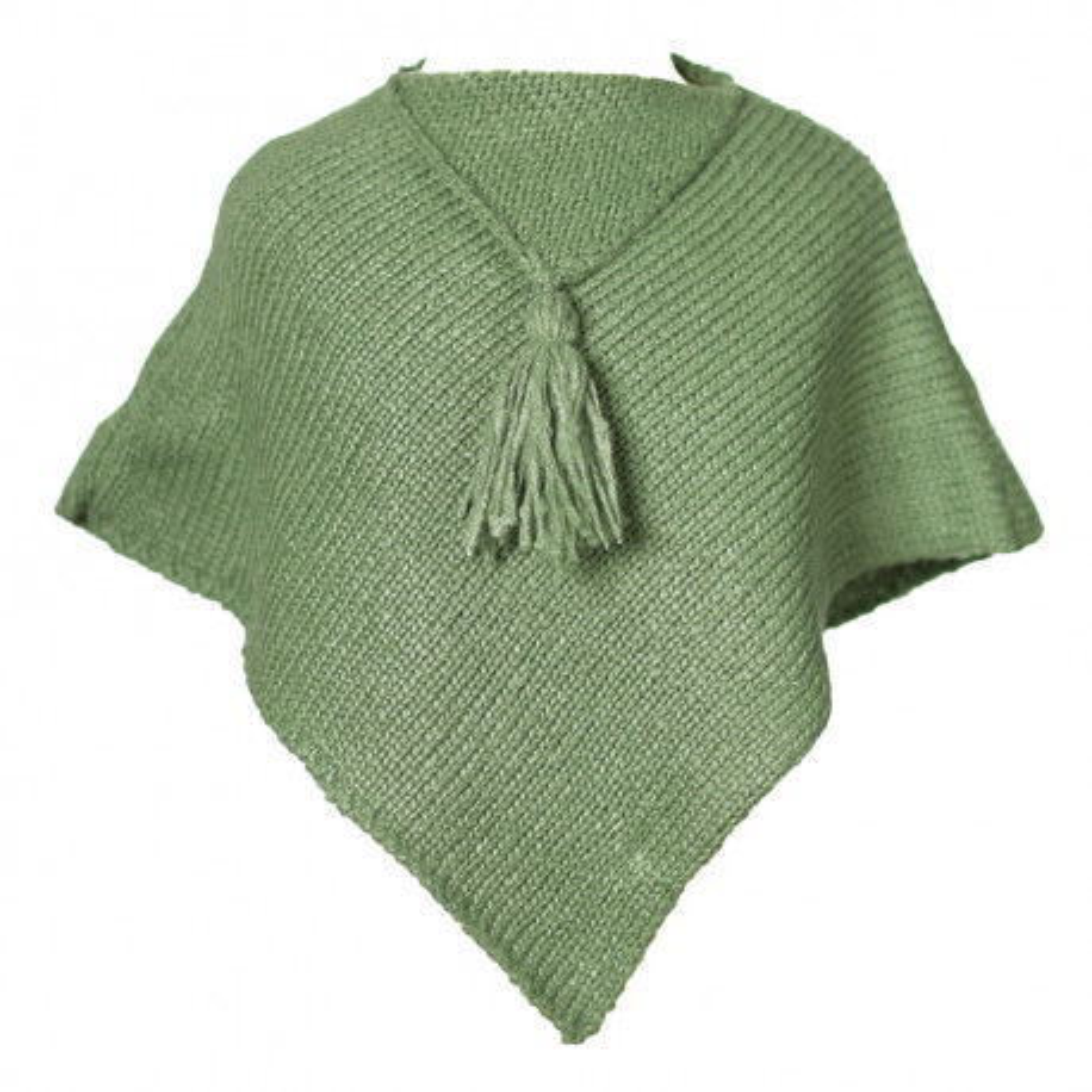 Poncho laine bébé vert jade