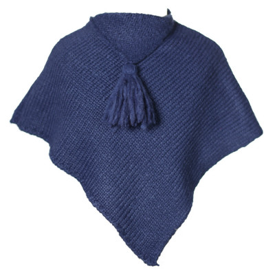 Poncho laine bébé Lapis Lazuli