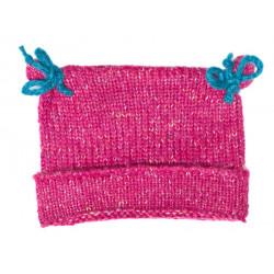 Bonnet bébé laine Framboise