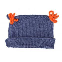 Bonnet bébé laine Lapis Lazuli