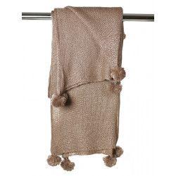 Grande étole laine camel marron clair