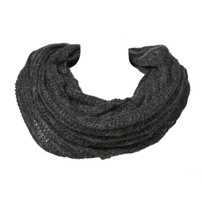 Grand snood tour de cou laine gris Ardoise