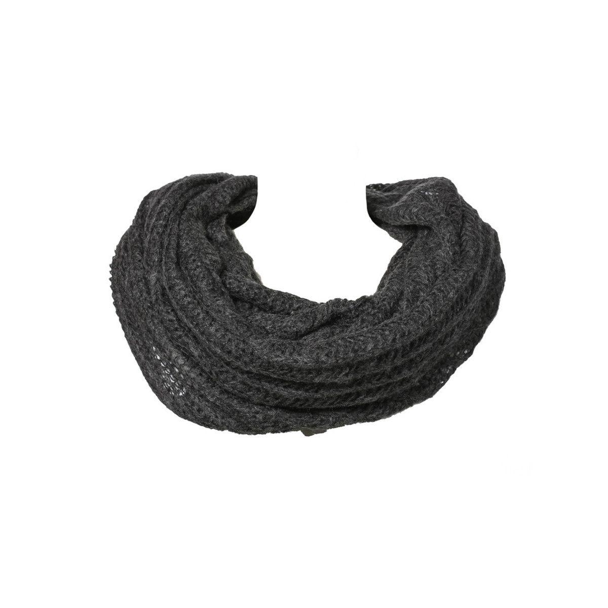 Grand snood tour de cou laine gris Ardoise