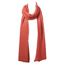 Echarpe laine orange corail