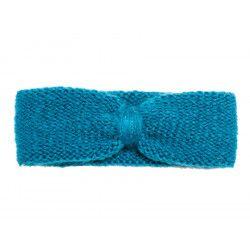 Bandeau headband sixties laine bleu canard