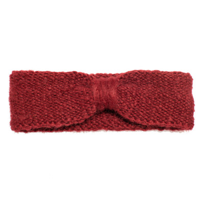Bandeau headband sixties laine bordeau rouille