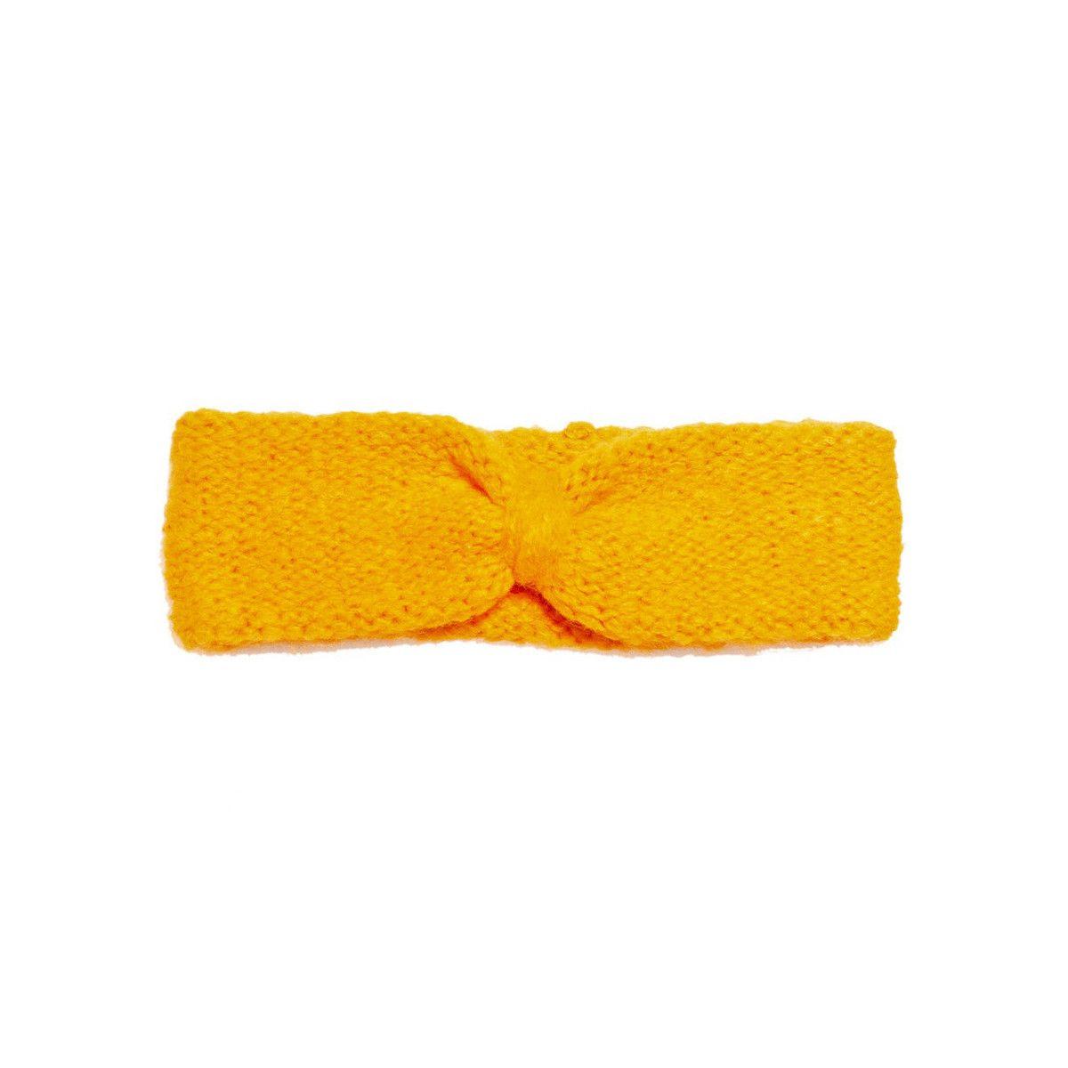Bandeau headband sixties laine jaune soleil