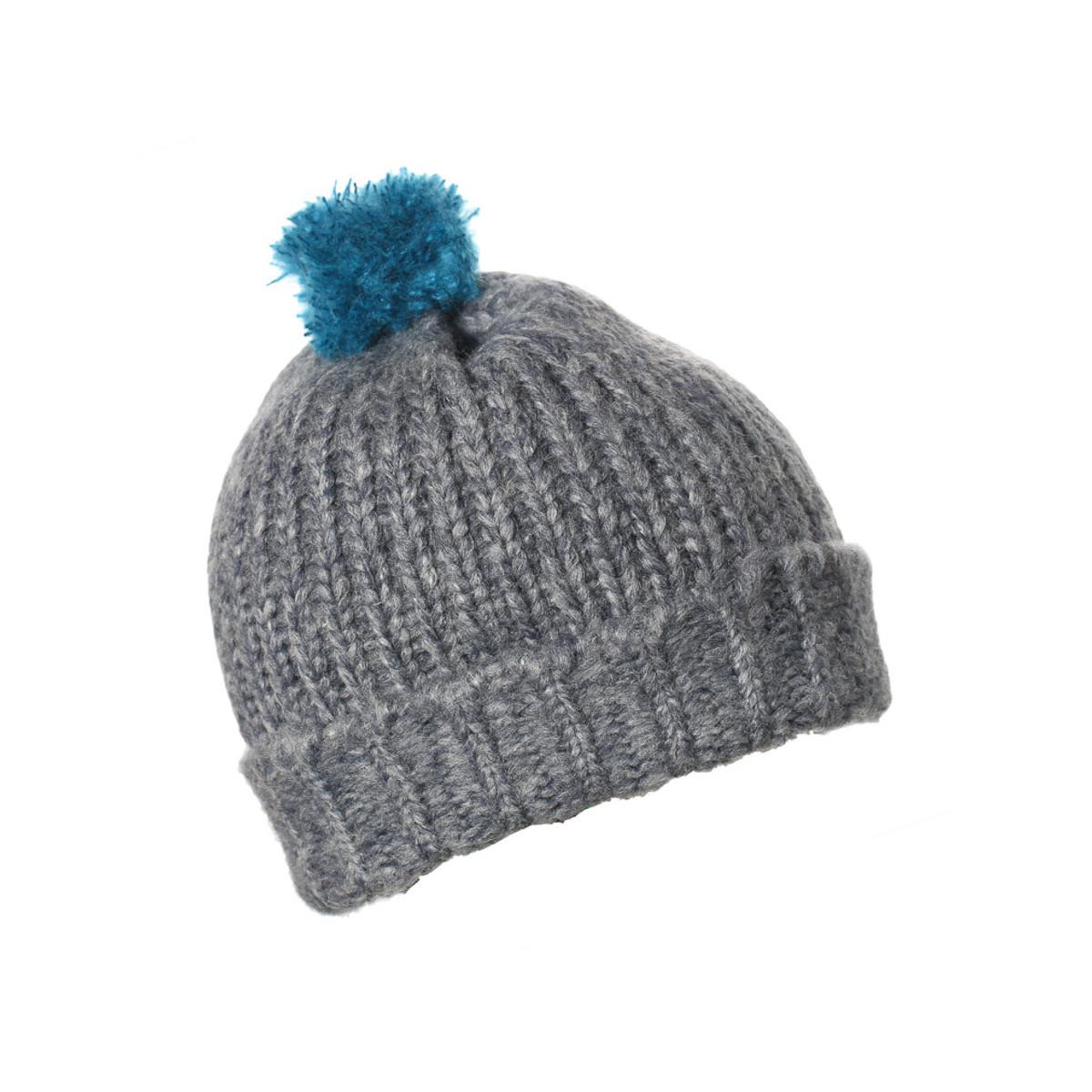 Bonnet laine enfant gris chiné