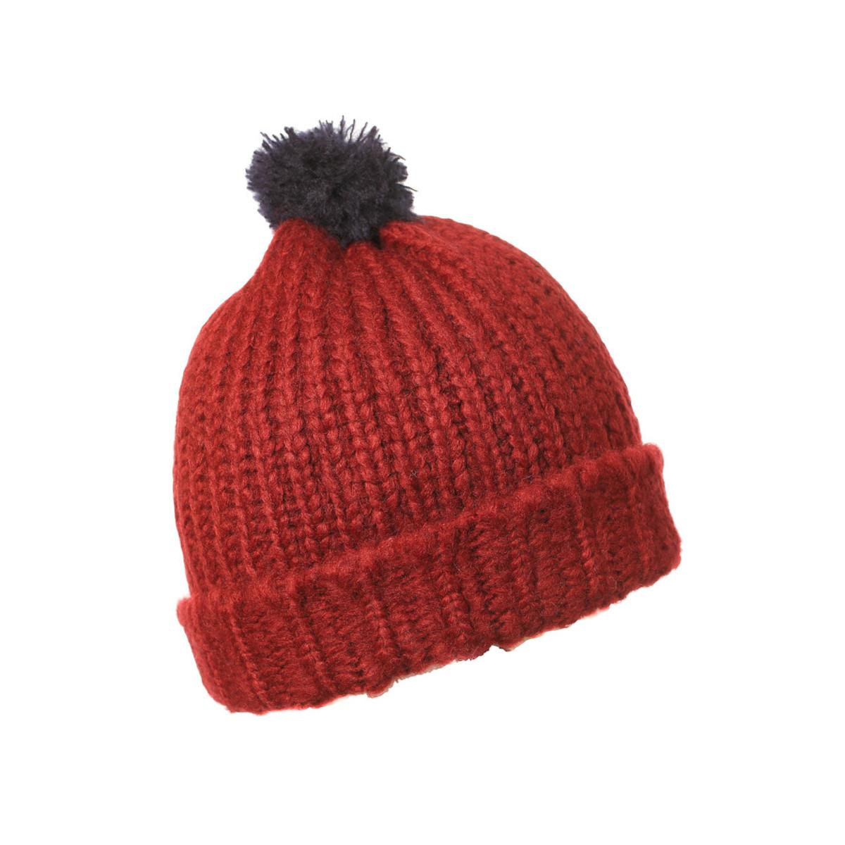 Bonnet laine enfant orange rouille