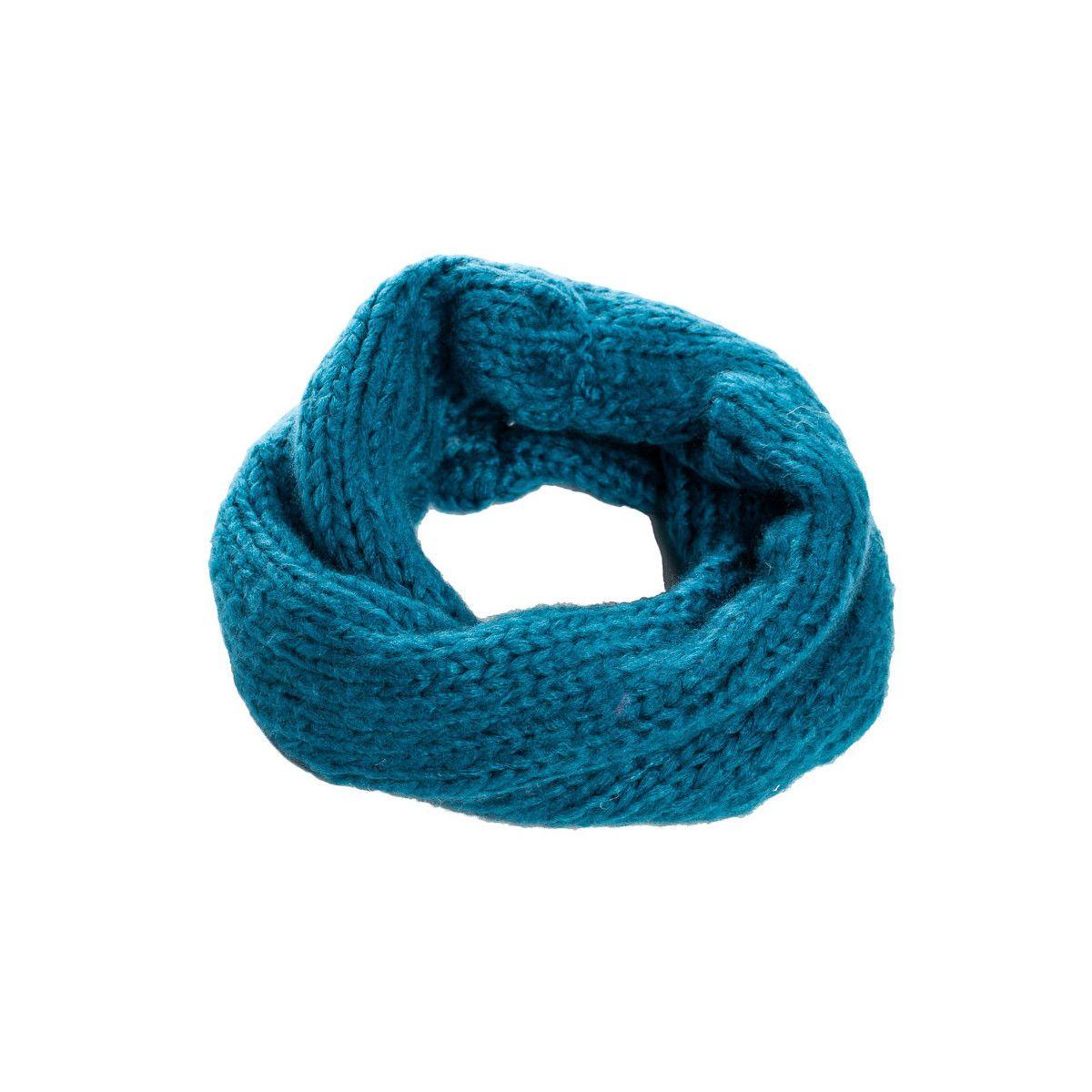 Snood laine douce enfant bleu Canard