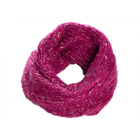 Snood laine douce enfant rose framboise