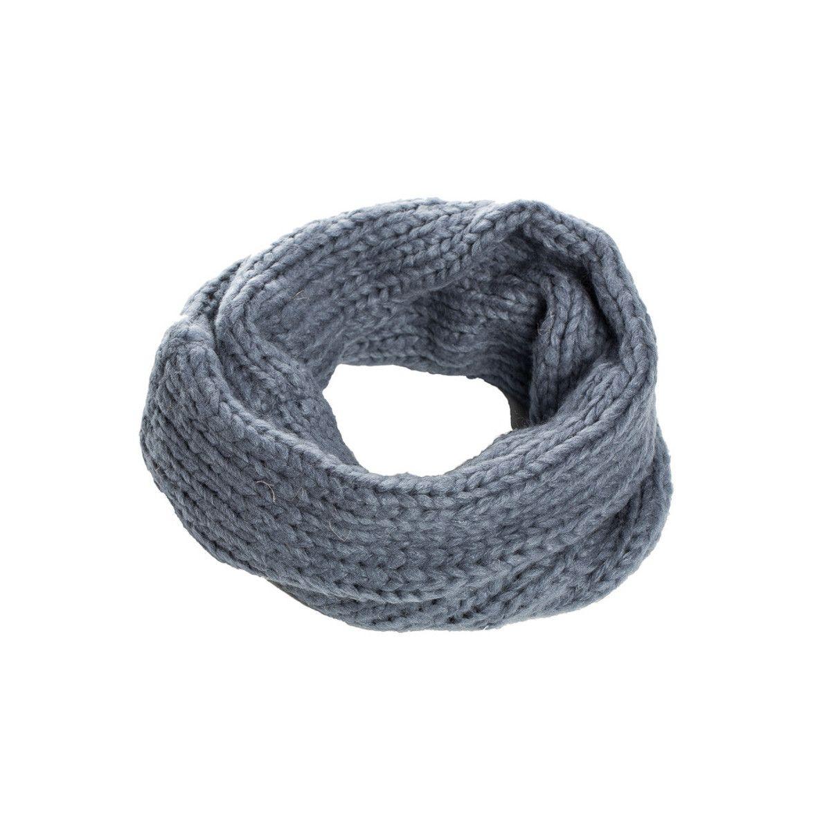 Snood laine douce enfant gris souris
