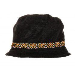 Chapeau polaire noir et orange
