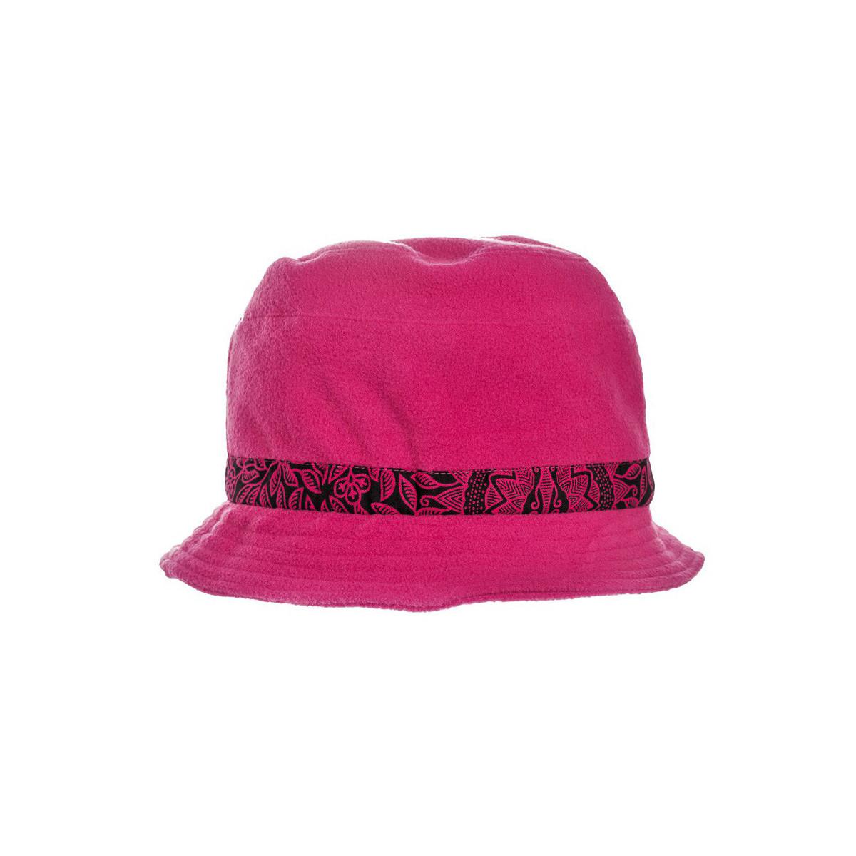 Chapeau polaire rose et noir