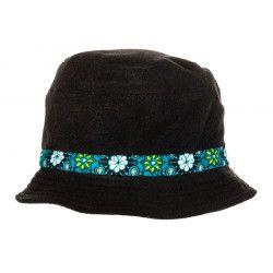 Chapeau polaire noir et bleu
