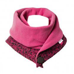 Echarpe polaire femme coton rose et noir