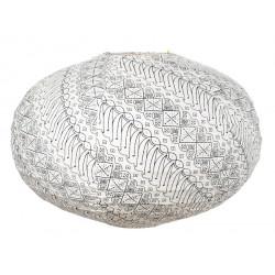 Lampion tissu boule japonaise ovale Shiro