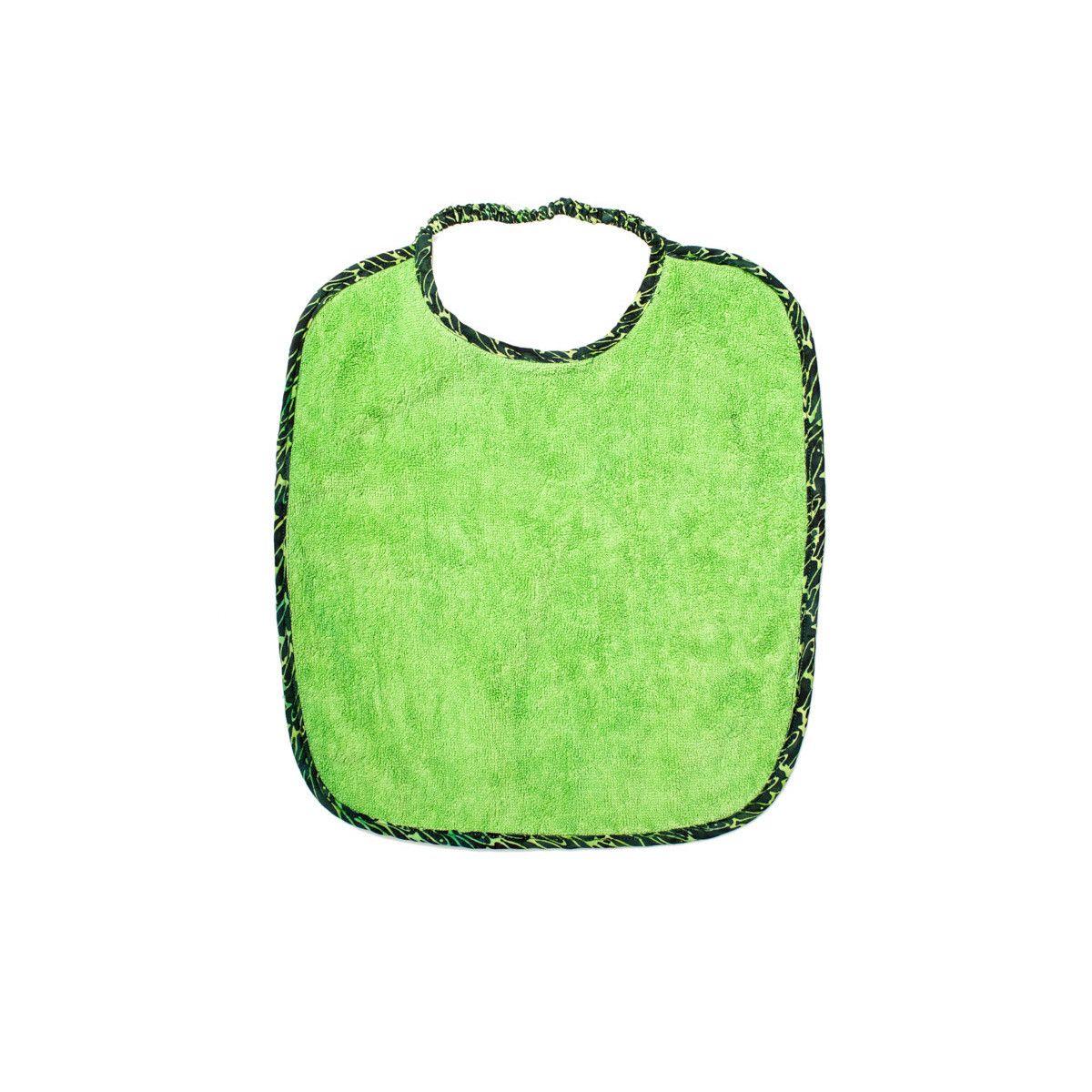 Bavoir col élastique vert