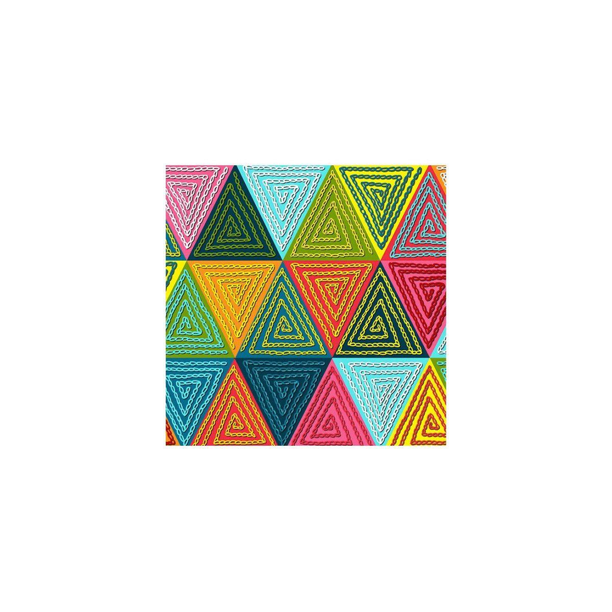 Velours labyrinthe multicolore