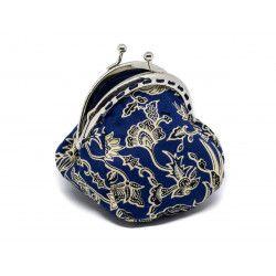 Petit porte-monnaie bourse rétro Nao blue