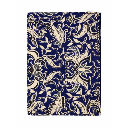 Porte-cartes rigide en coton bleu