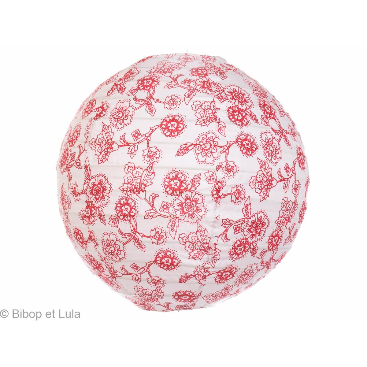 Lampion tissu rond Blooma