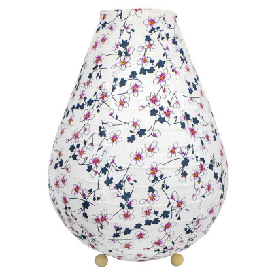 Lampion chevet tissu Akiko blanc